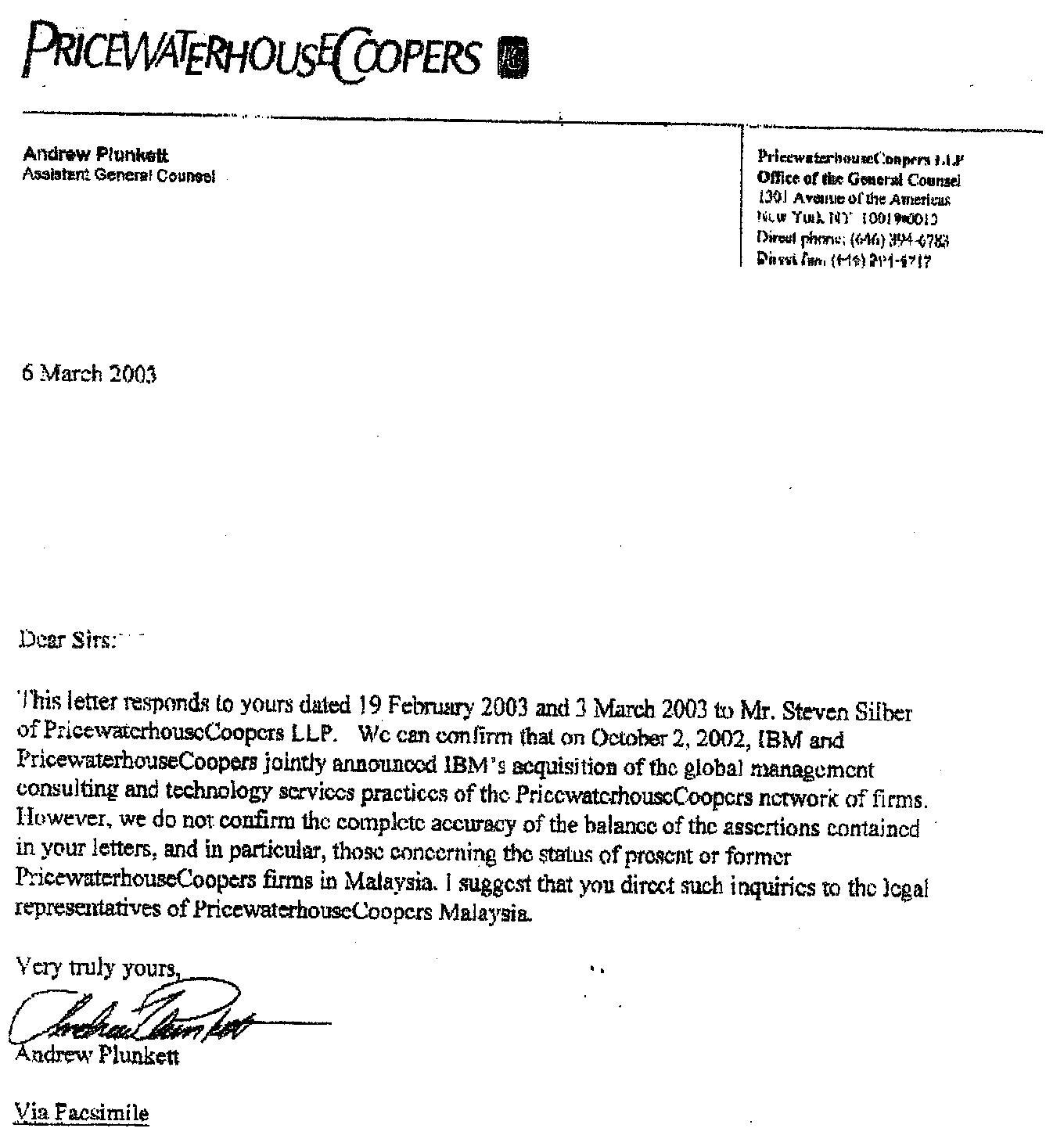 Zarinahtakesapaycut: PricewaterhouseCoopers LLP, Owners Of
