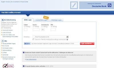 Deutsche Bank Online Banking Login Spain