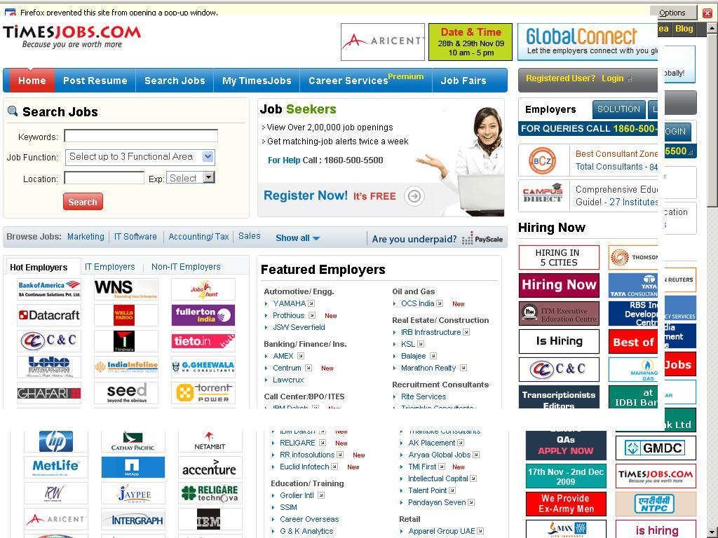 Free Information and News about Job Sites in India - Timesjob.com