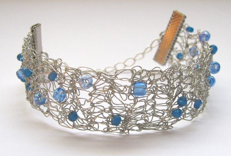 Wire Crochet Bracelet Beads By Roni