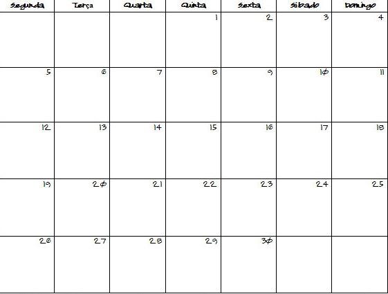 30 day blank calendar template - Printable Blank Calendar