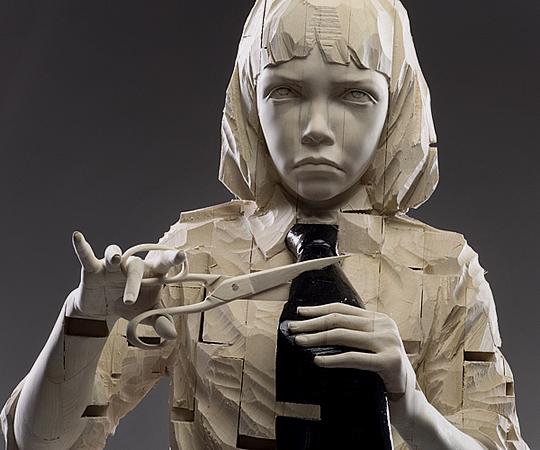 Esculturas em Madeira por Gehard Demetz - 01