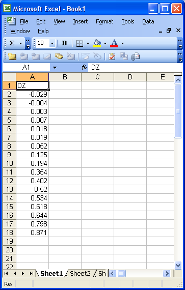dominoc925: Using Excel to calculate the RMSE for LiDAR