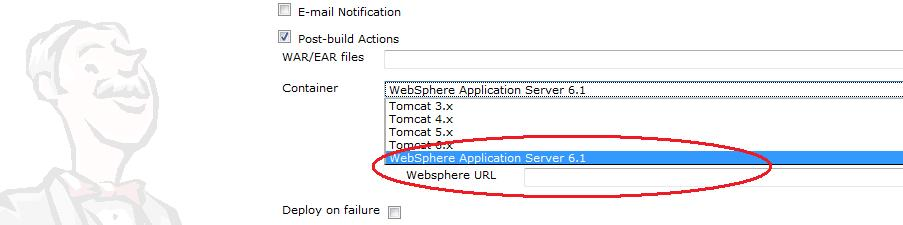 Hudson and WebSphere