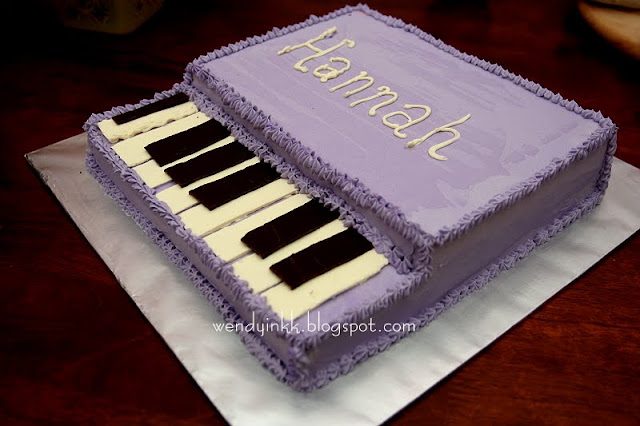 Table for 2 or more Hannahs Piano Rainbow Cake