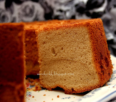 Spicy Chiffon Cake With Creamy Cocoanut Frosting