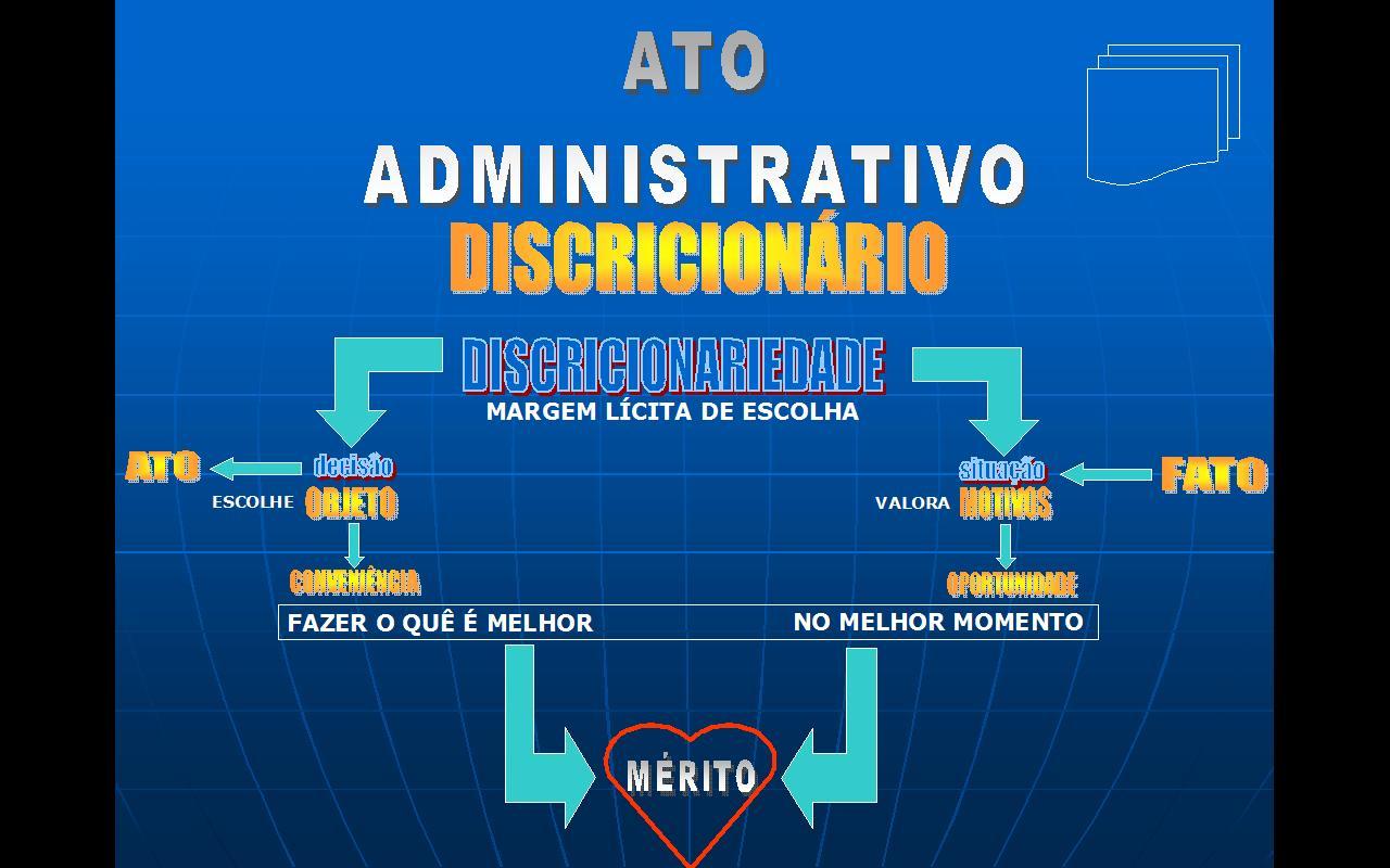 Resultado de imagem para merito dos atos administrativos