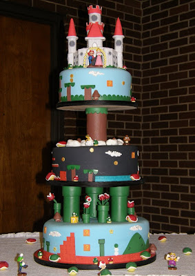 Mario Video Game Wedding Cake