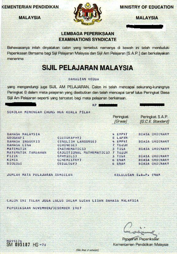 buletin hairan online jurublog lahanat siarkan sijil spm yang didakwa milik normala untuk kelirukan pembaca buletin hairan blogger