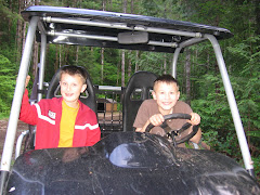 Max and Rex in the UTV