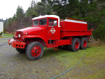 Vintage fire truck at Tahuya Fire Station