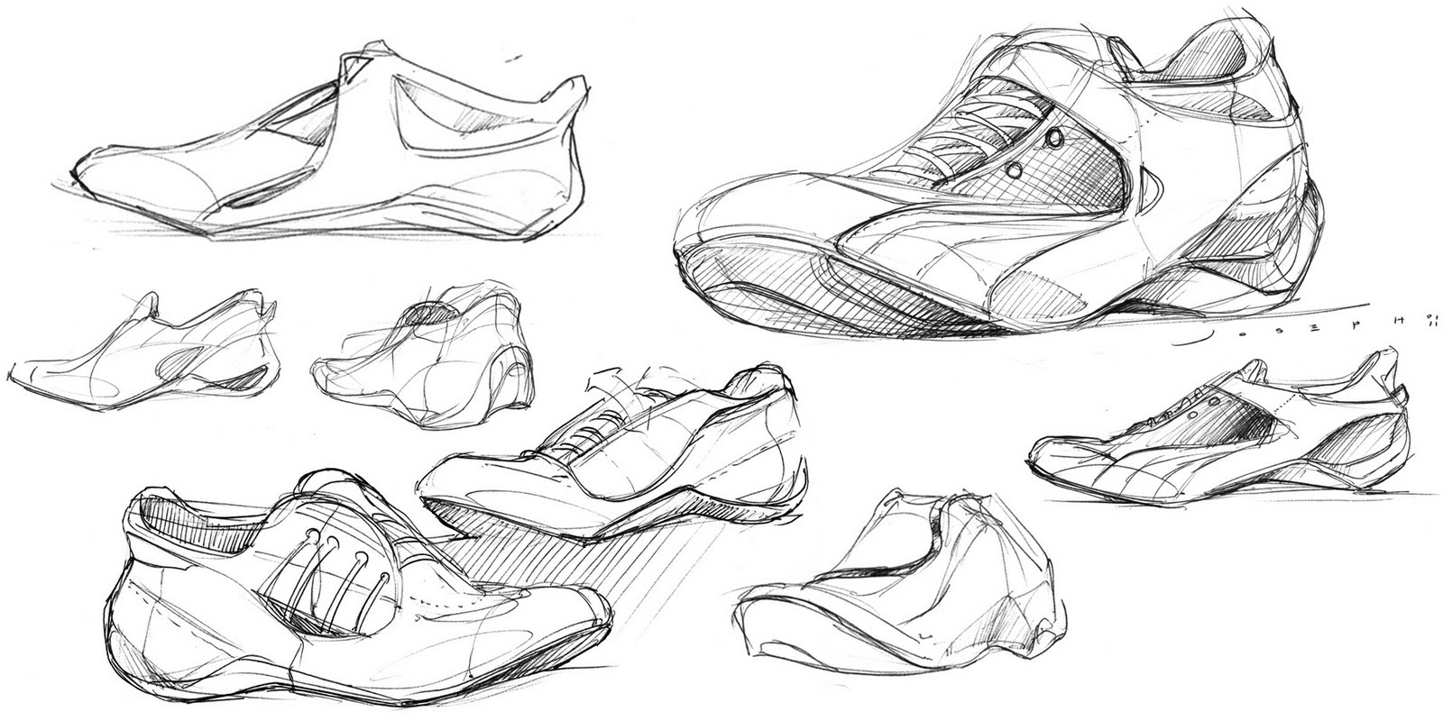 It is a graphic of Astounding Shoe Design Drawing