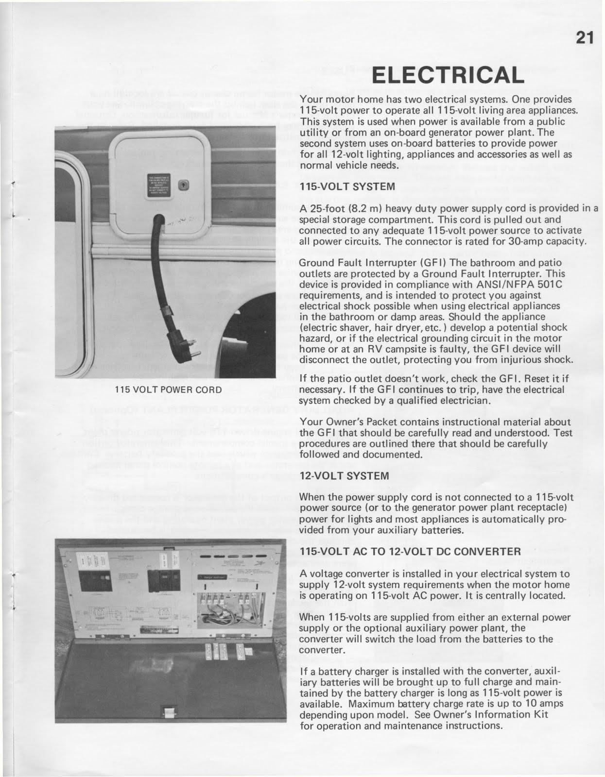 1985 pace Arrow Motorhome manual