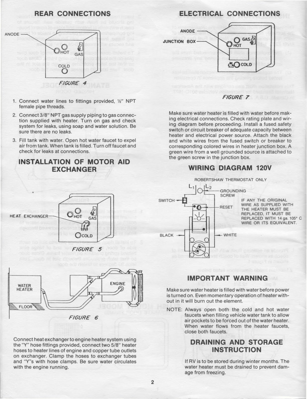 1983 Fleetwood Pace Arrow Owners Manuals Mor Flo Water Heater Starlite Trailer Wiring Diagram For A Installation And Service Manual 6500015