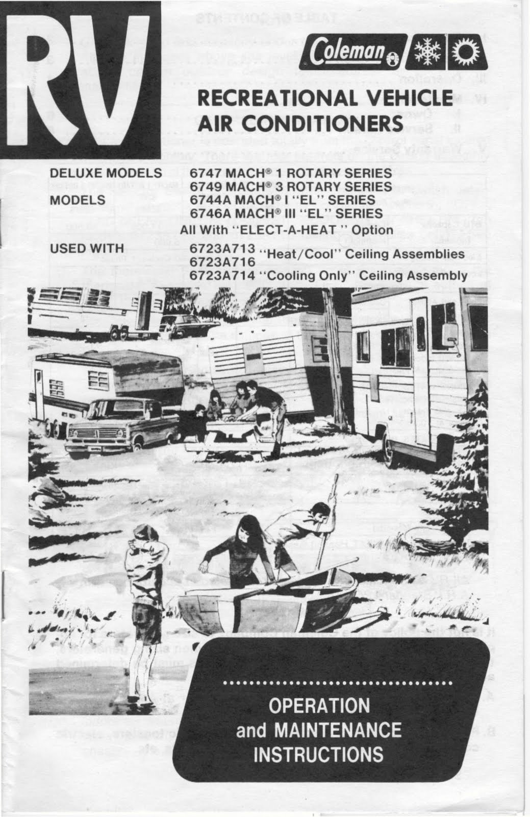 1983 Fleetwood Pace Arrow Owners Manuals Rv Ac Operation