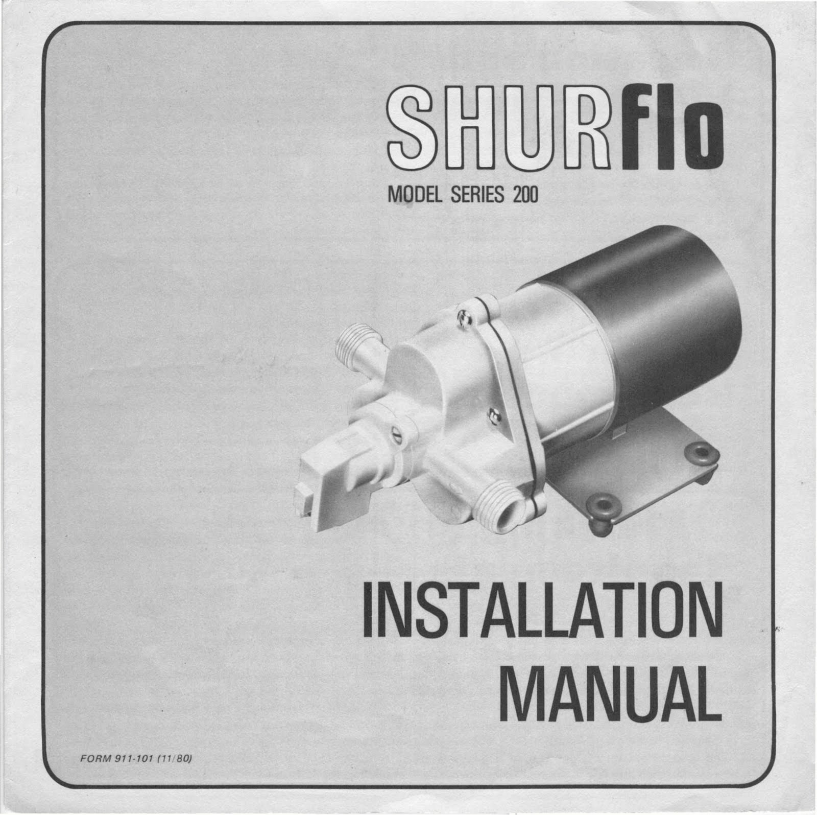 shurflo model series 200 fresh water pump