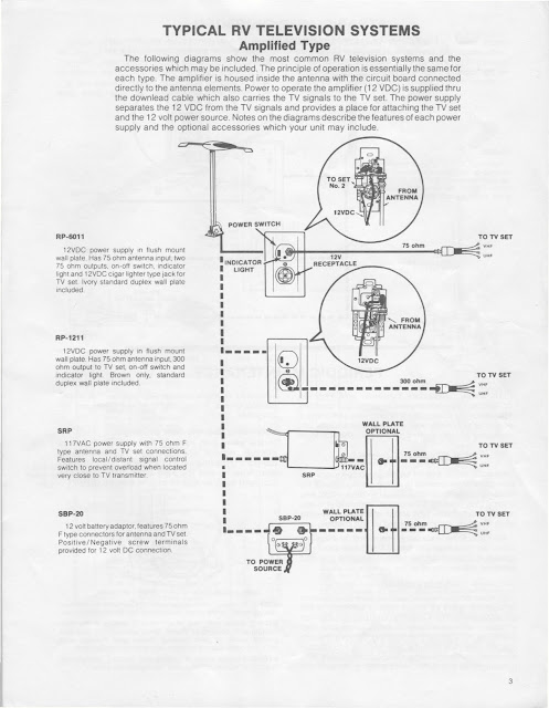 winegard rv satellite wiring diagram inside 1983 fleetwood pace arrow owners manuals: winegard rv tv antenna owners and operation manual #9