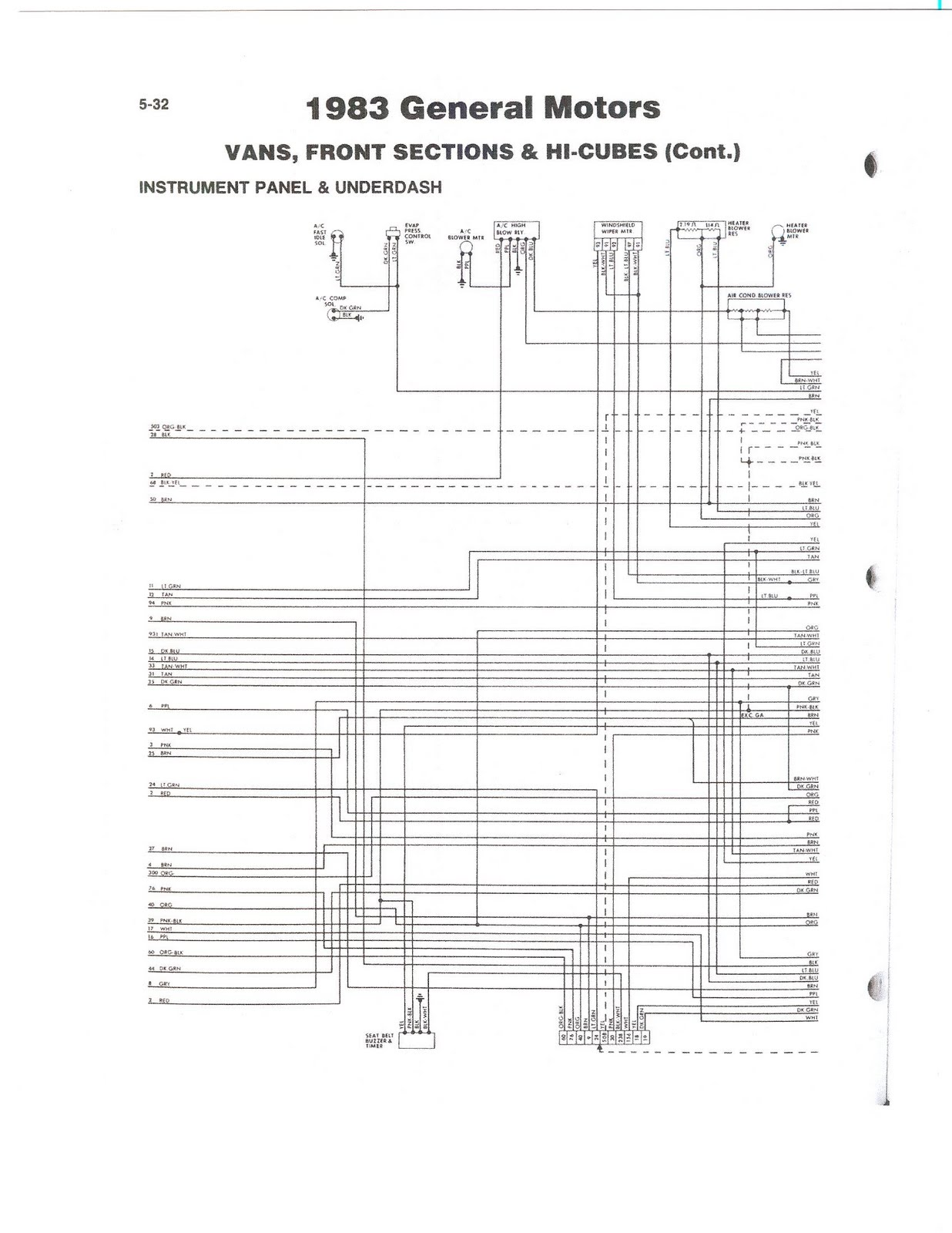 discovery fleetwood rv wiring diagram dash [ 1236 x 1600 Pixel ]