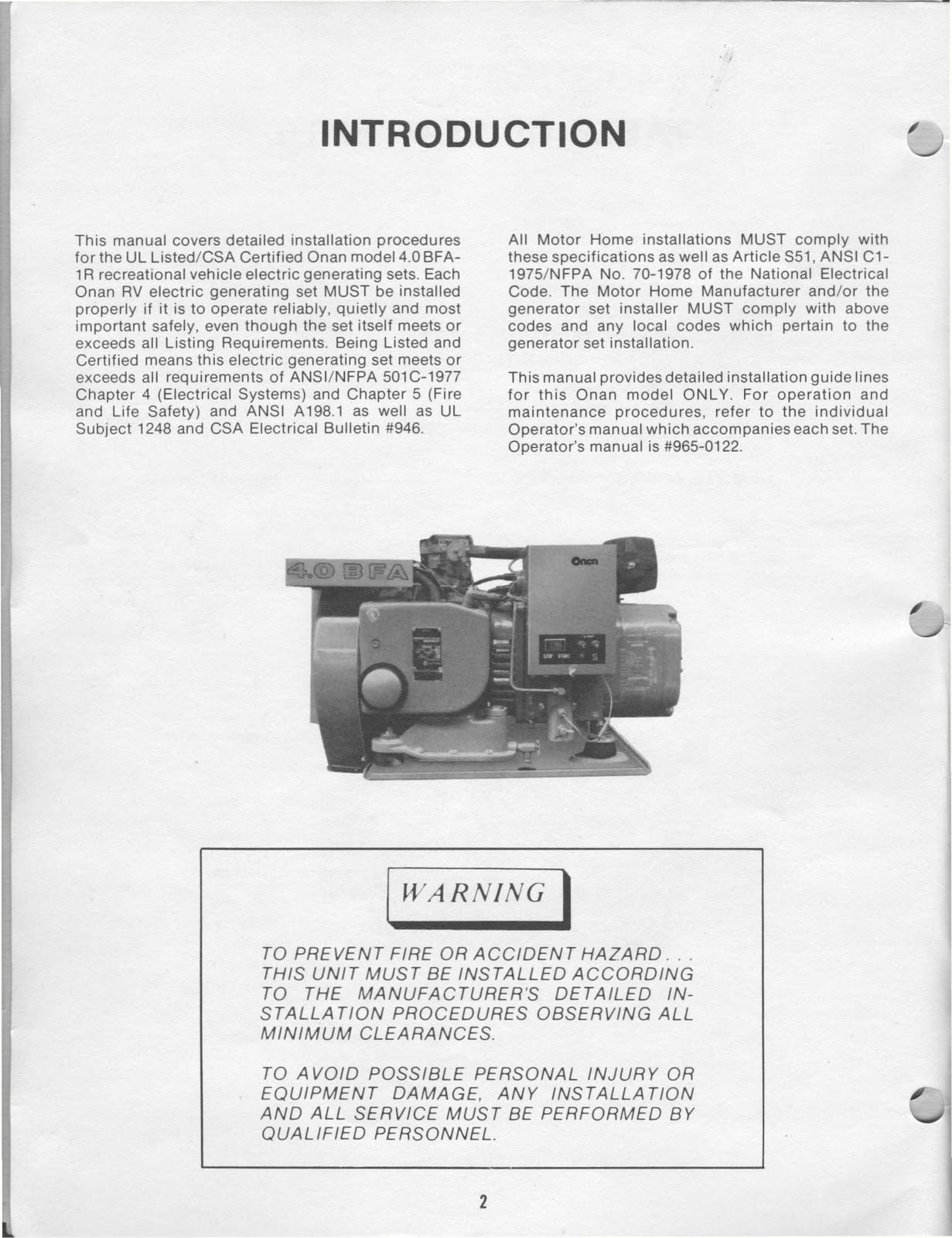Onan Bfa Service Manual s