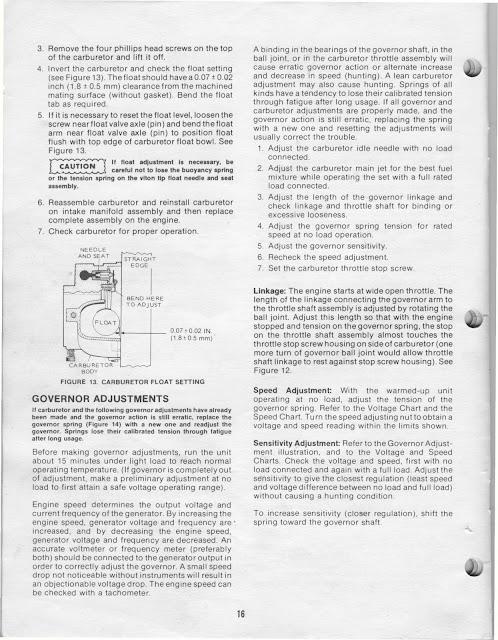 1983 Fleetwood Pace Arrow Owners Manuals: ONAN 4.0 KW BFA
