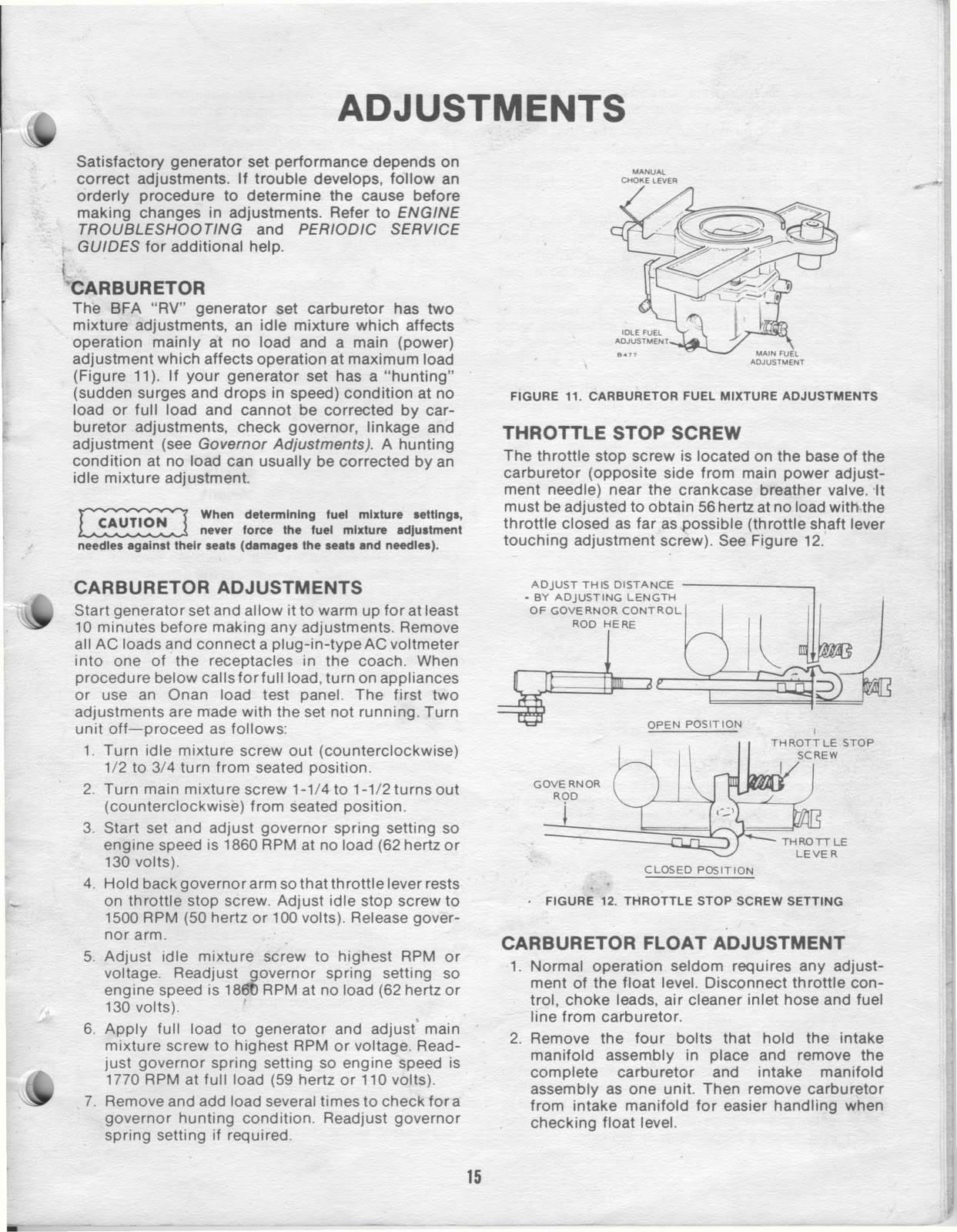 1983 Fleetwood Pace Arrow Owners Manuals: ONAN 4 0 KW BFA