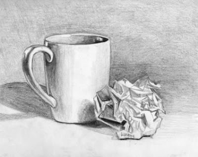 Drawing: Value on Pinterest | Still life photography ...  |Pencil Sketch Simple Object