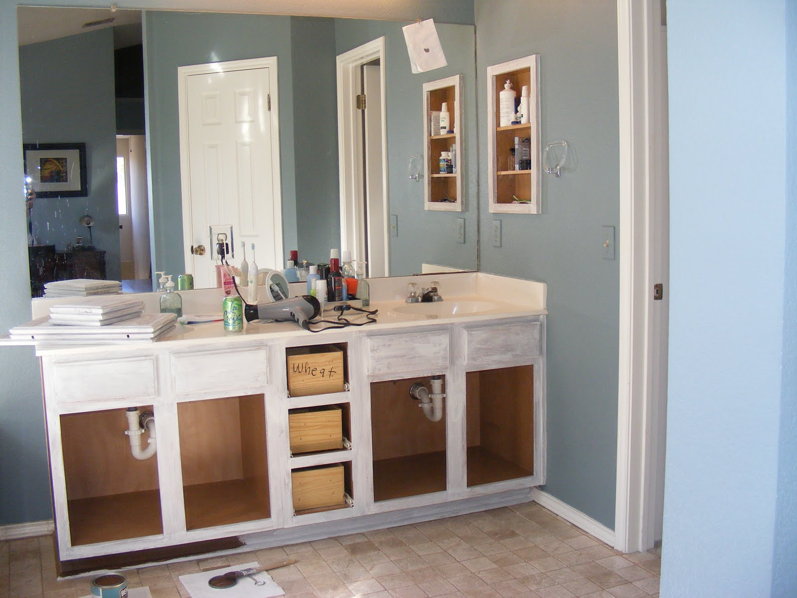 red's rave: how to strip and paint your bathroom vanity
