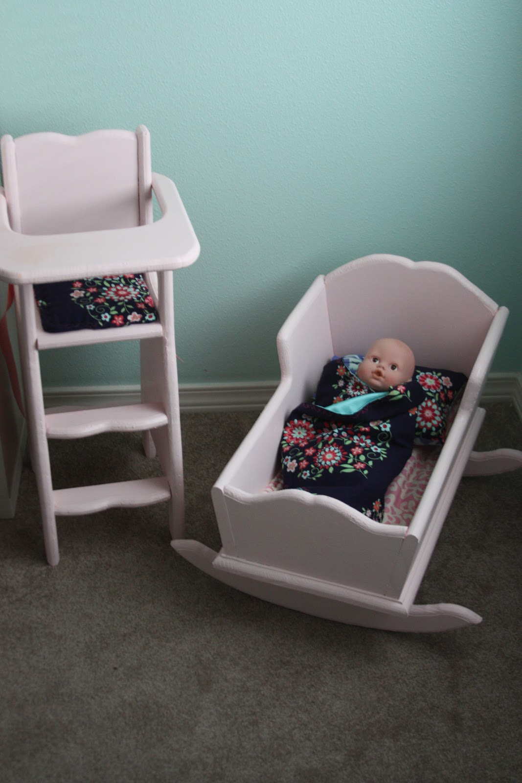 Doll Highchair And Cradle...