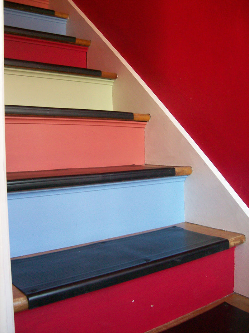 practical living painted stairs. Black Bedroom Furniture Sets. Home Design Ideas