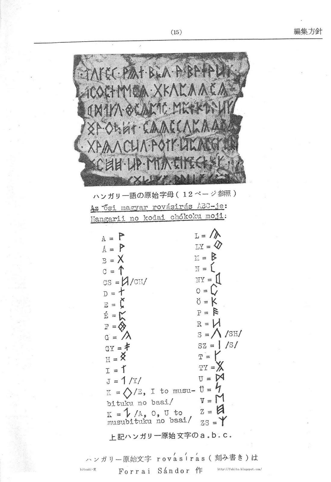 bitxəšï-史: Rovásírás a Magyar-Japán szótárban 洪日辞典にある古代 ...