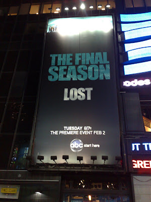 Lost Series 6 Times Square billboard