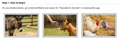 Google Translate for animals Android application how to begin
