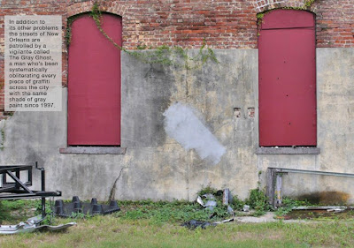 Banksy New Orleans Gray Ghost