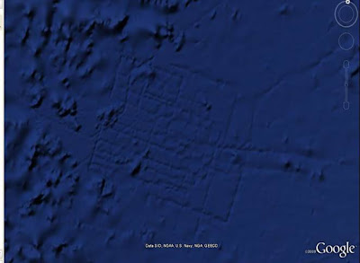 Close up of Atlantis on Google Earth