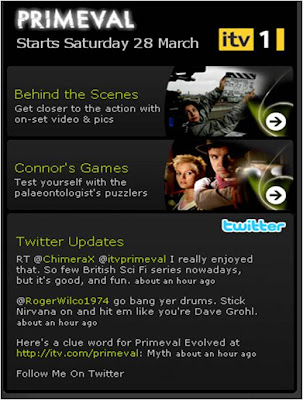 Primeval Twitter stream on itv.com