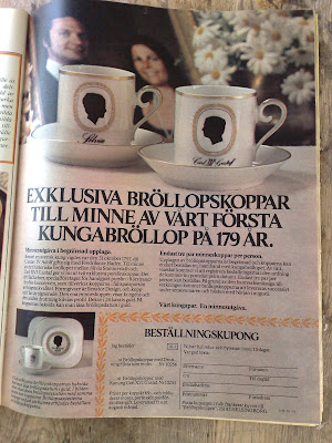 King Carl XVI Gustaf Royal Wedding china ad 1976