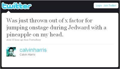 Calvin Harris Jedward X Factor eviction