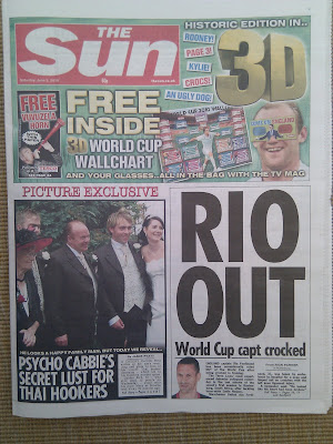 The Sun newspaper 3D front page