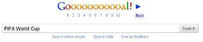 Google logo change for FIFA World Cup 2010 Gooooooooooal