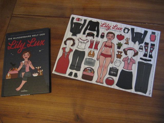 Foto vom Buch Die wunderbare Welt der Lily Lux und den Lily Lux Kühlschrankmagneten