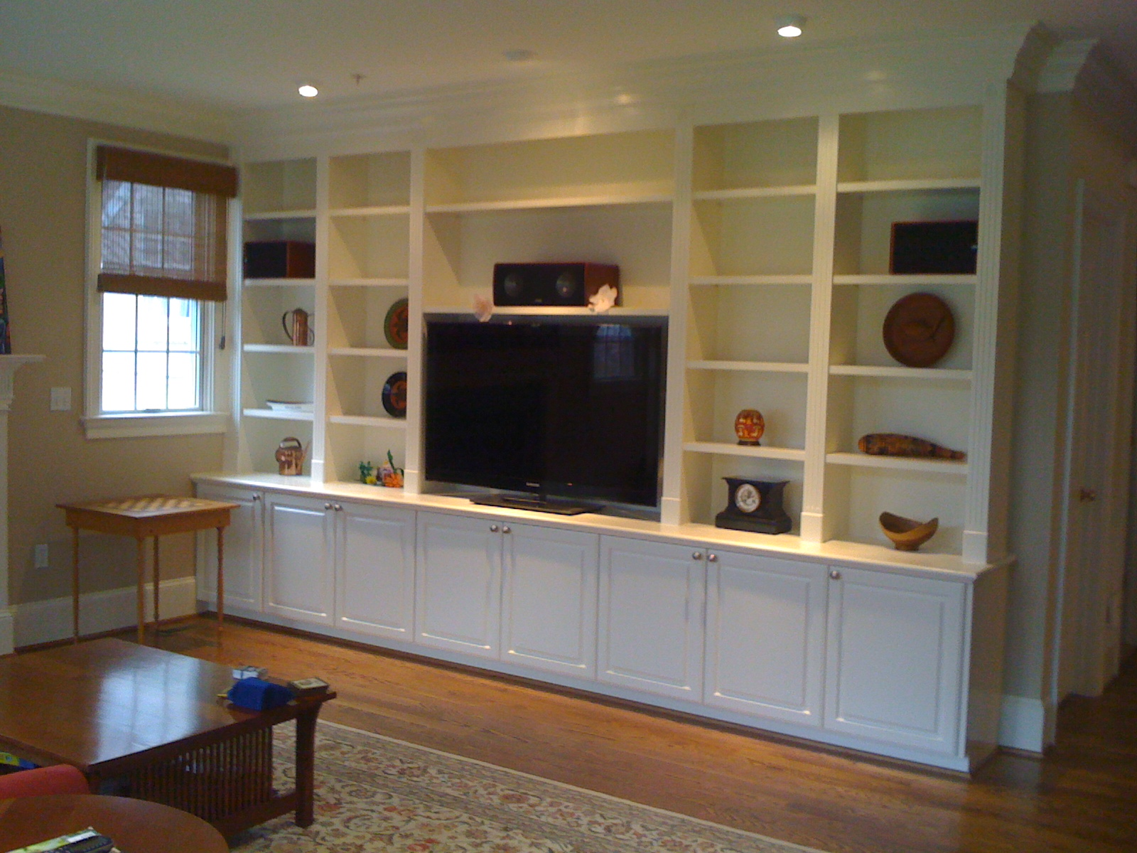 Excellent built ins worth every penny and more bossy - Living room built ins ...