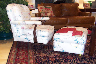 chair and ottoman that need to be reupholstered burgundy fabric samples