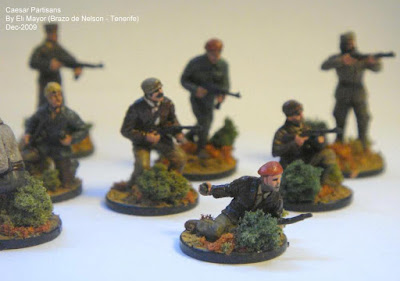 Caesar 20mm WW2 French Resistance Partisans