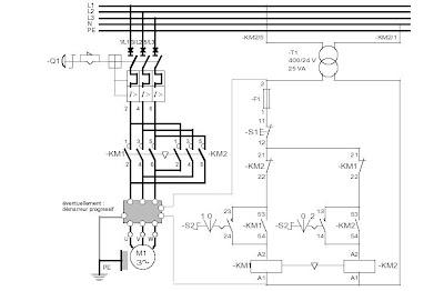 Electric General Berrechid: Schéma démarrage direct 2 sens
