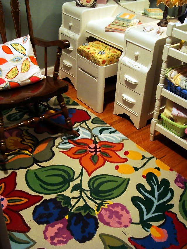 Hand Painted Floor Mat Laundry Room Revamp Part 2