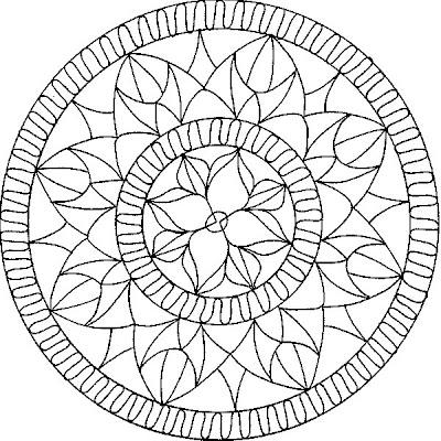100 Pentru Copii Mandala Imagini De Colorat Pagina 7