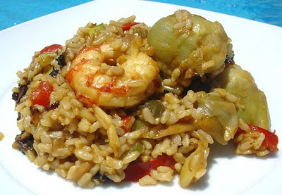 paella de arroz integral