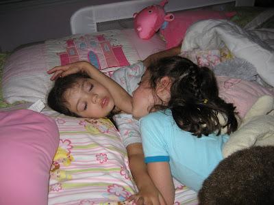 2 girls sleeping guy blowjob