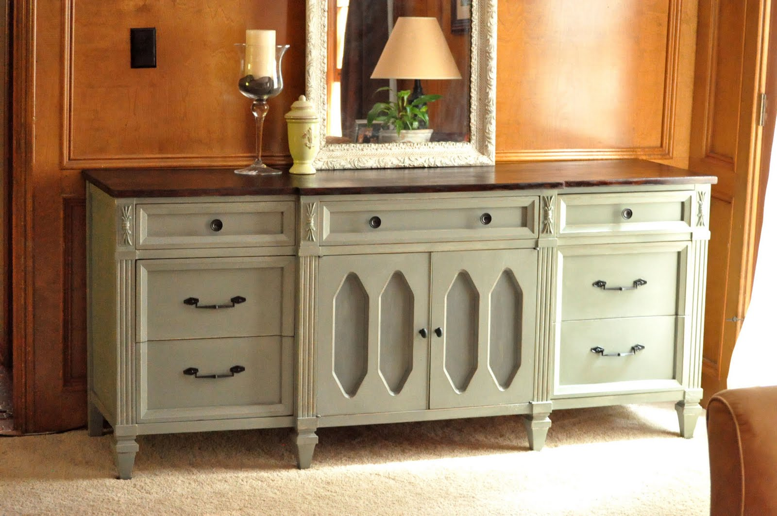 painted green furniture. Wooden Dresser Painted Green; Furniture Redo Green D