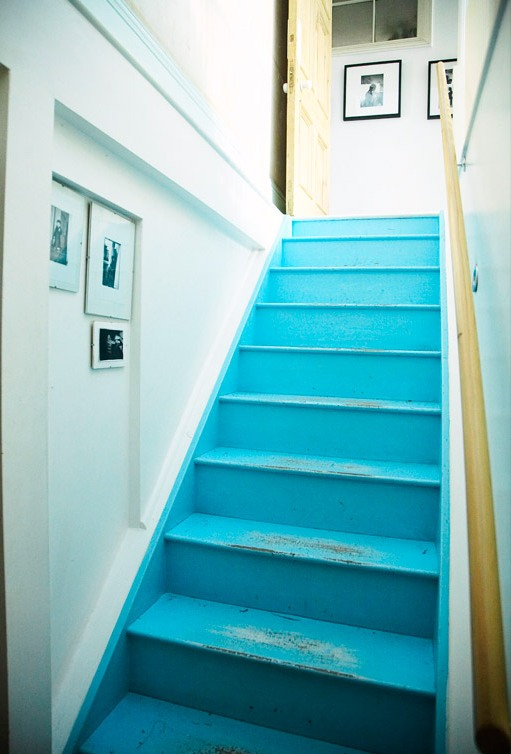 Between Blue And Yellow I M Dreaming Of A Painted Staircase